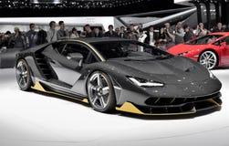 Lamborghini Centenario supercar in Geneve autoshow 2016 Stock Fotografie