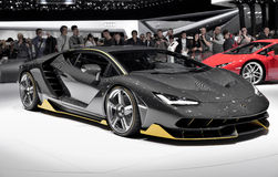 Lamborghini Centenario supercar at Geneve autoshow 2016 Stock Photography
