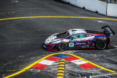 Lamborghini  in City Grand Prix. Royalty Free Stock Photo