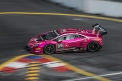 Lamborghini  in City Grand Prix. Royalty Free Stock Images