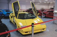 Lamborghini Countach with open scissor doors Stock Images