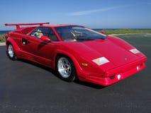 Lamborghini Countach 25th årsdag 1989 vid stranden royaltyfri foto