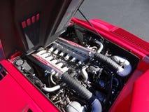 Lamborghini Countach 25th годовщины залив 1989 двигателя стоковая фотография