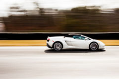 Lamborghini dans le mouvement Photo stock