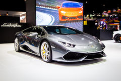 Lamborghini em Tailândia 37th Motorshow internacional 2016 fotografia de stock