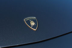 Lamborghini emblemat na pokazie Fotografia Stock