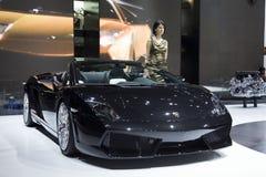 Lamborghini en Ginebra fotografía de archivo
