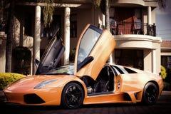 Lamborghini en Mantion foto de archivo