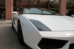 Lamborghini gallardo. White Lamborghini Gallardo at the Roma Motor Show Stock Image