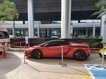 Lamborghini Gallardo Squadra Corse coupe cabriolet side view Royalty Free Stock Image