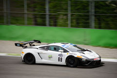 Lamborghini Gallardo GT3 at Monza. Cars Engineering Team is testing his Lamborghini Gallardo GT3 that will compete in the Italian GT Cup season 2016 with the Stock Photography