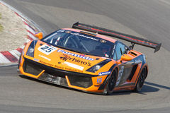 Lamborghini Gallardo GT3. ZANDVOORT, THE NETHERLANDS - OCTOBER 14: Max Nilsson and Henry Zumbrink in the REITER ENGINEERING LAMBORGHINI GALLARDO racing on Stock Image