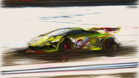 2013 Lamborghini Gallardo LP570 4 Super Trofeo ID 7799 stock illustration