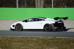 Grand tourer racing supercar in action Stock Photography