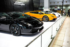 Lamborghini  gallardo lp560-4 LP700. Lamborghini Gallardo is a mid-engine two-seater, at the 2003 Geneva Motor Show debut, as the Lamborghini ( Lamborghini ) Stock Images