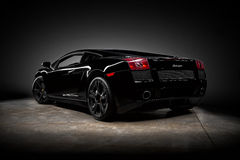 Lamborghini Gallardo Nera Obraz Stock