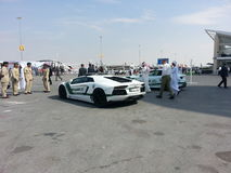 Lamborghini gallardo police car. Dubai Air Show Stock Photo