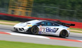 Lamborghini Gallardo. Pro driver Marcelo Hahn races the Lamborghini Gallardo FL2 race car at the professional motorsports racing event, International Motor Royalty Free Stock Images