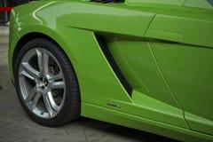 Lamborghini Gallardo Squadra Corse小轿车敞蓬车绿色 免版税库存图片