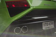 Lamborghini Gallardo Squadra Corse小轿车敞蓬车绿色 免版税库存照片