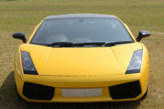 Lamborghini Gallardo. Yellow Lamborghini Gallardo Roadster Car Royalty Free Stock Image