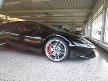 Lamborghini. Garage of dream, rich man toys stock photos