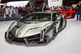 Lamborghini on Geneva Motor Show Stock Photo