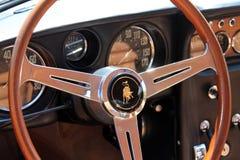 Lamborghini 400gt del dettaglio della cabina di pilotaggio fotografia stock