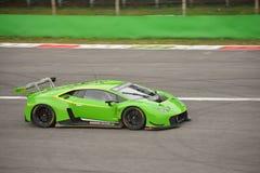 Lamborghini Huracà ¡ n GT3 2016 test przy Monza Zdjęcia Stock