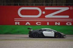Lamborghini Huracà ¡ n Trofeo 2016 Super test przy Monza Obraz Royalty Free