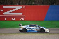 Lamborghini Huracà ¡ n Trofeo 2016 Super test przy Monza Fotografia Stock