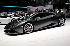 Lamborghini Huracan日内瓦2014年 免版税库存图片