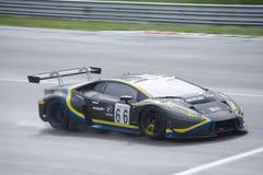 Lamborghini Huracan GT3, das in Monza läuft lizenzfreie stockfotos