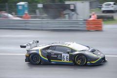 Lamborghini Huracan GT3 in der Aktion in Monza lizenzfreie stockfotos