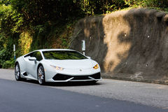 Lamborghini Huracan LP610-4 2014实验驾驶 免版税图库摄影