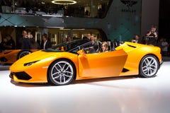 2016年Lamborghini Huracan LP610-4 Spyder 图库摄影