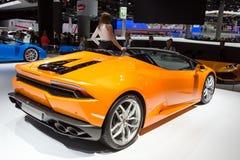 2016年Lamborghini Huracan LP610-4 Spyder 库存图片