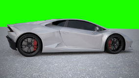 Lamborghini Huracan restyled animation stock video