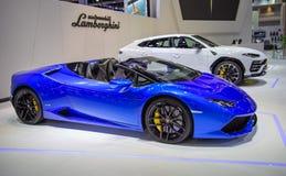 Lamborghini Huracan Spyder royalty-vrije stock afbeeldingen