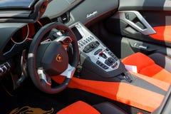 Lamborghini interior car on display Stock Images