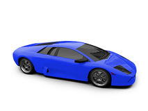 Lamborghini isolated blue Stock Image