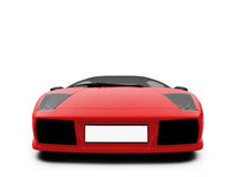 Lamborghini isolated red Royalty Free Stock Photography