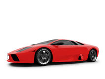 Lamborghini isolated red Royalty Free Stock Images