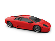 Lamborghini isolou o vermelho Foto de Stock