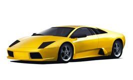 Lamborghini jaune de vecteur Image stock