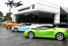 Lamborghini lager i Miami Royaltyfria Bilder