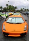 Lamborghini lager i Miami Arkivbilder