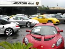 Lamborghini lager i Miami Fotografering för Bildbyråer