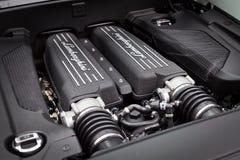 Lamborghini lp560-4 Super Motor van een auto Stock Afbeelding