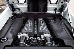 Lamborghini lp560-4 Super Motor van een auto Stock Foto's